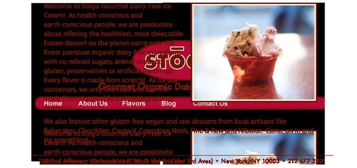 Stogo Gourmet Organic Dairy-Free Ice Cream, NYC: really good ginger ice cream here!