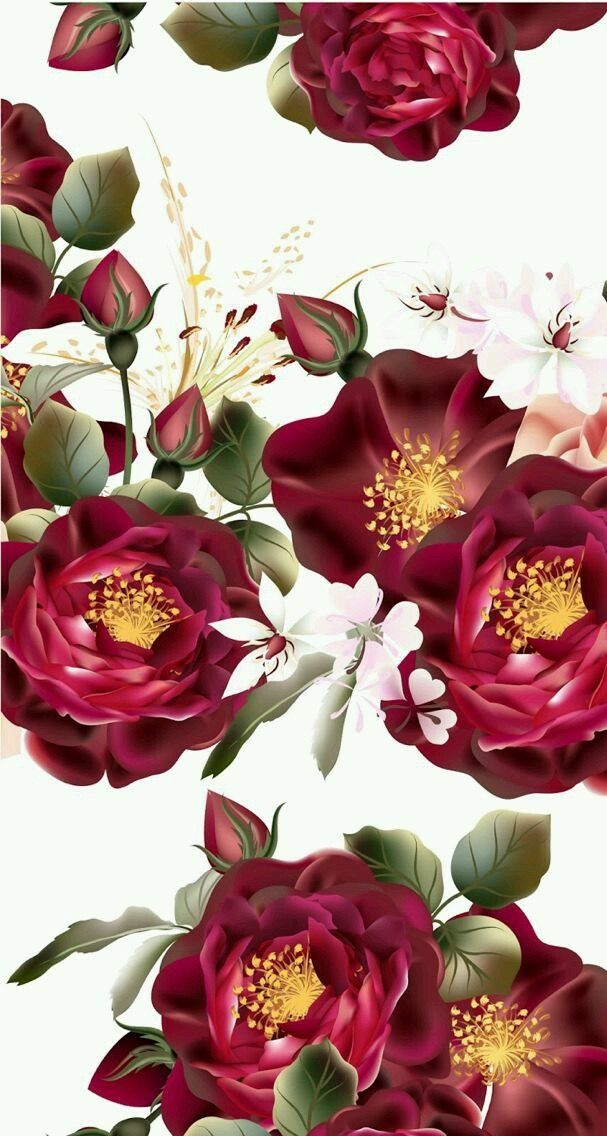 Pin by S H🍯 on Wallpaper   Vintage flowers wallpaper ...