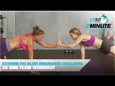 Extreme Fat Blast Endurance Challenge: 20 Min Team Workout - YouTube Complete 12/27/14