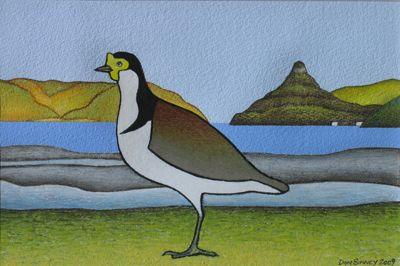Huia Bay Spurwing (I) by Don Binney 2009