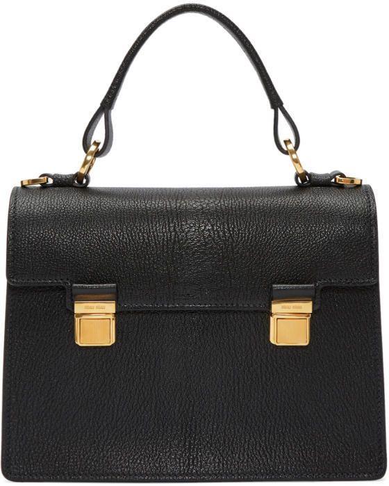 Miu Miu Black Double Lock Bag