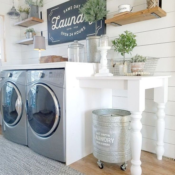 Stunning 50 Awesome Farmhouse Laundry Room Decor Ideas https://roomodeling.com/50-awesome-farmhouse-laundry-room-decor-ideas