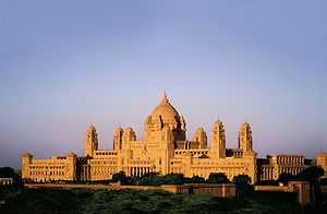 Jodhpur, India, Umaid Bhawan Palace. The present owner of the Palace is Maharaj Gaj Singh. The Palace is divided into three functional parts - a luxury Taj Palace Hotel (in existence since 1972), the residence of the erstwhile royal family, and a Museum focusing on the 20th century history of the Jodhpur Royal Family.