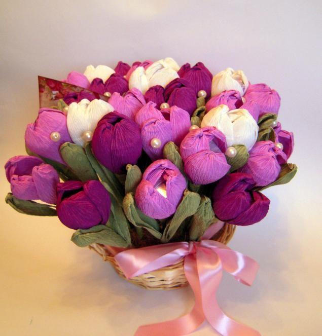 МК Тюльпаны из бумаги - Ярмарка Мастеров - ручная работа, handmade