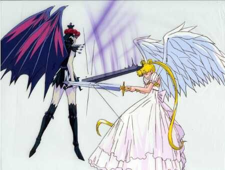 """""""Sailor Moon StarS"""" finale - Sailor Galaxia and Princess Serenity."""