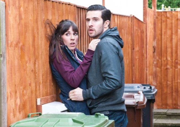 Switch on: Michael Parr, who plays Ross Barton in Emmerdale with Verity Rushworth