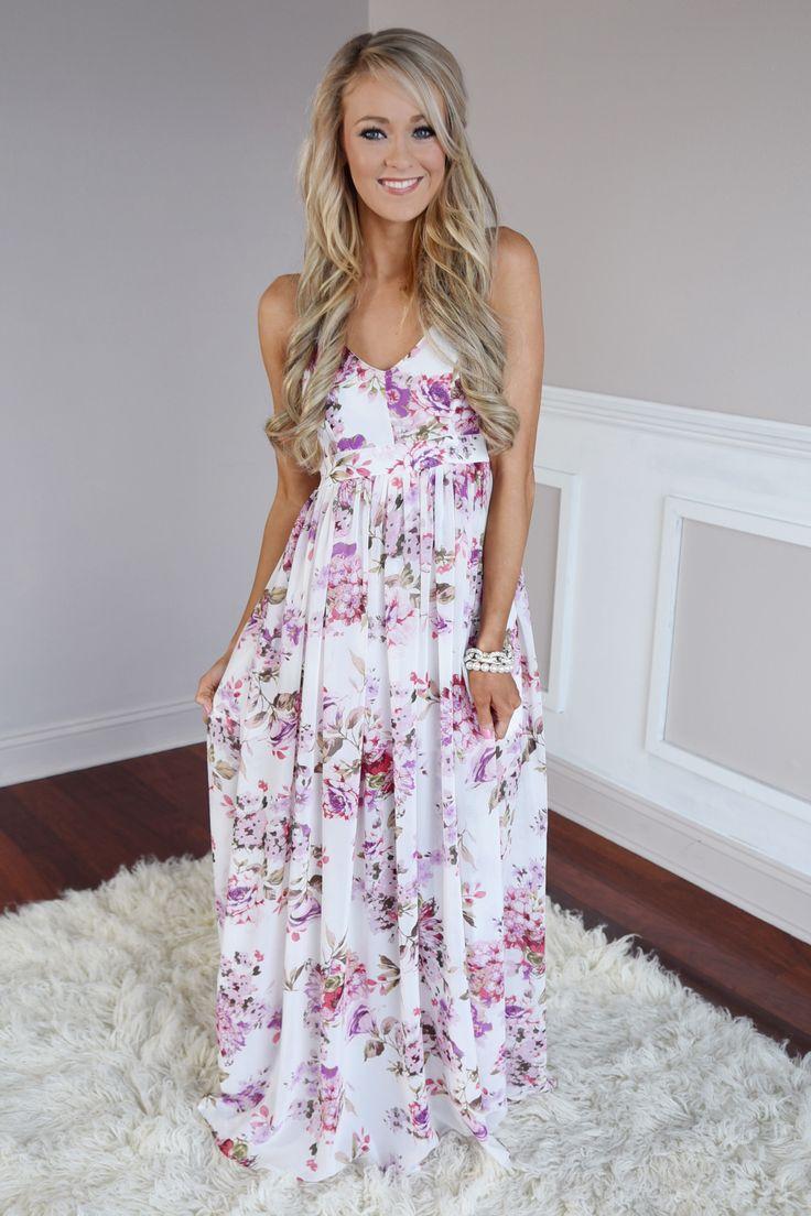 Long summer maxi dresses for juniors