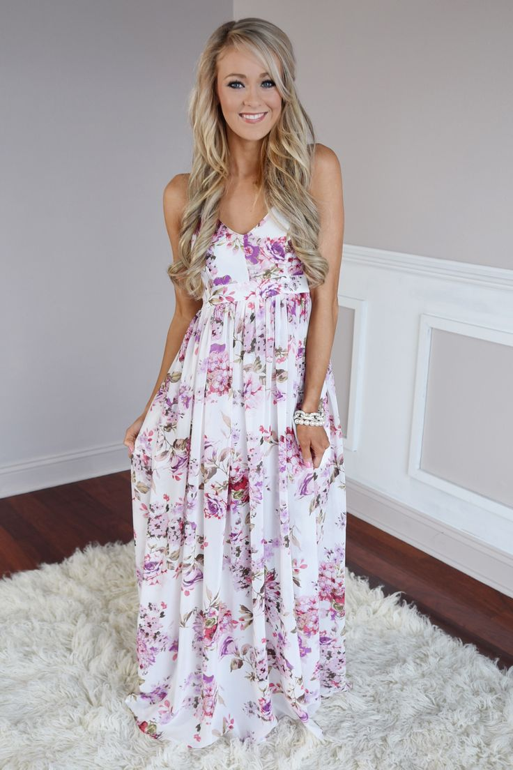 Maxi dress in spring