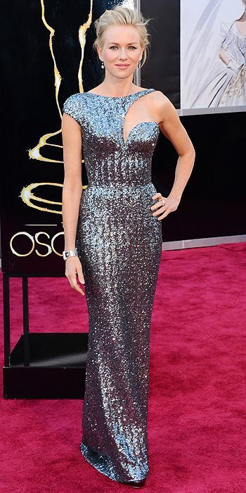 Loving Naomi Watts' asymmetrical Armani Prive gown. #Oscars. Get her slinky look with Nicole Miller #RTR http://www.renttherunway.com/shop/designers/nicolemiller_dresses/arcticmistgown #RedCarpetSteal #RepinToWin