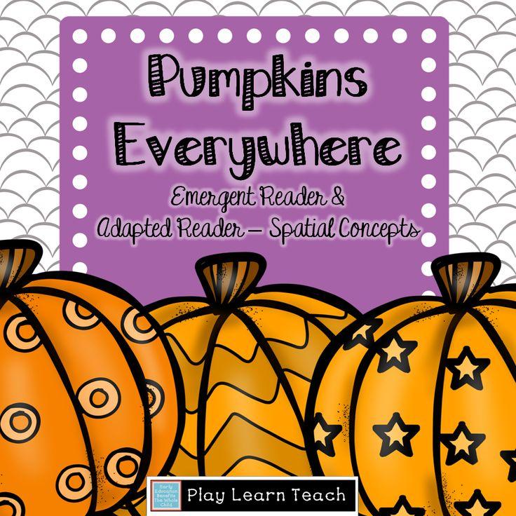 Spatial Concepts Pumpkin Adapted Book