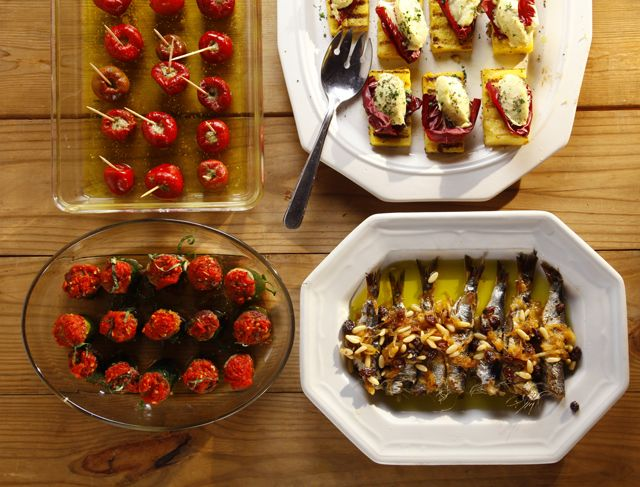 small hors d'oeuvres for the party