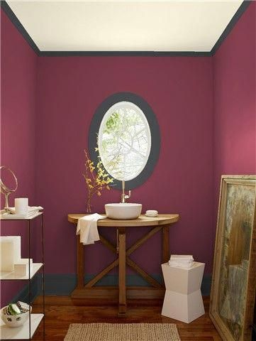 Look At The Paint Color Combination I Created With Benjamin Moore Via Wall Cranberry Tail 2083 20 Trim Wrought Iron 2124 10