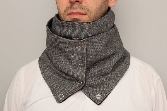 Mens  infinity scarf NECKWARMER infinity scarf  with by SenasShop