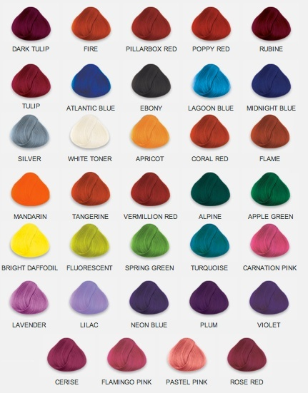 HAIR COLOURS // Alpine - Turquoise - Lilac - Flamingo Pink - Cerise - Rubine