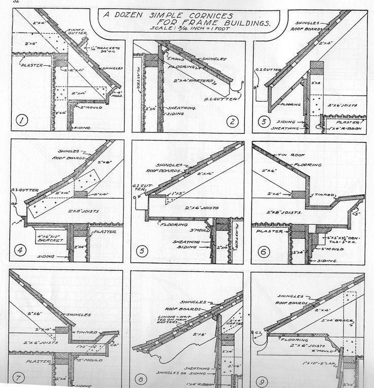 traditional roof pitch architectural drawing