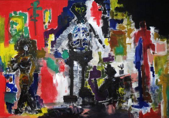 Gallerymak.com - 6.000 TL / 2.050 USD  Psiko by Dinçer Dökümcü - Tuval üzerine Yağlı Boya / Oil on Canvas - 70x100  #sanat #dekorasyon #icmimar #stil #tablo #resim #dizayn #icmekan #istanbulmodern #dekor #evdekorasyon #soyut #mimari #yağlıboya