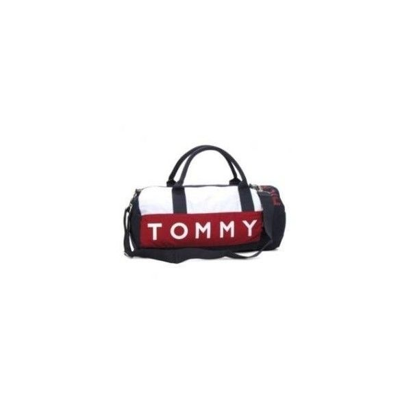 Bolsa Tommy Hilfiger Pequena Viagem Mini Duffle Bag ❤ liked on Polyvore featuring bags, handbags, mini duffel bag, mini handbags, red duffle bag, red bag and tommy hilfiger purses