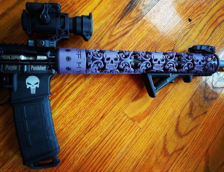 "@OffHandGear skull hand guard, 15"" shown in our custom Blackberry Pearl color."