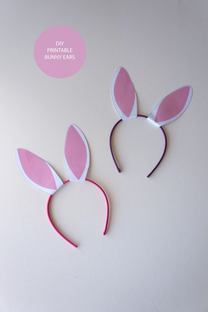 Best 25 bunny ears template ideas on pinterest how to make diy printable bunny ears the white dahlia pronofoot35fo Images