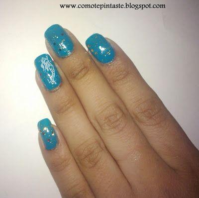 ¿Cómo te pintaste?: Manicura 24: La Sirenita #nails #uñas #comotepintaste #nail art #retodisney #disney #lasirenita