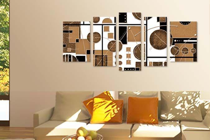 Abstract bej-negru 3624