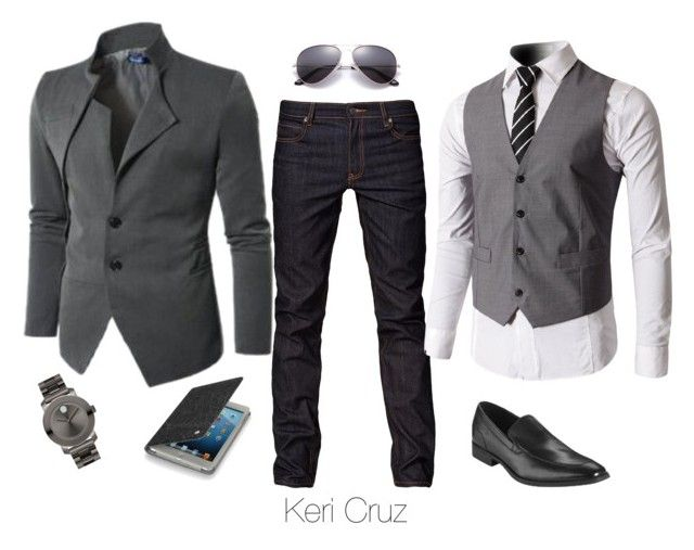 """Modern Businessman"" by keri-cruz ❤ liked on Polyvore featuring Cheap Monday, Movado, Folio and modern"