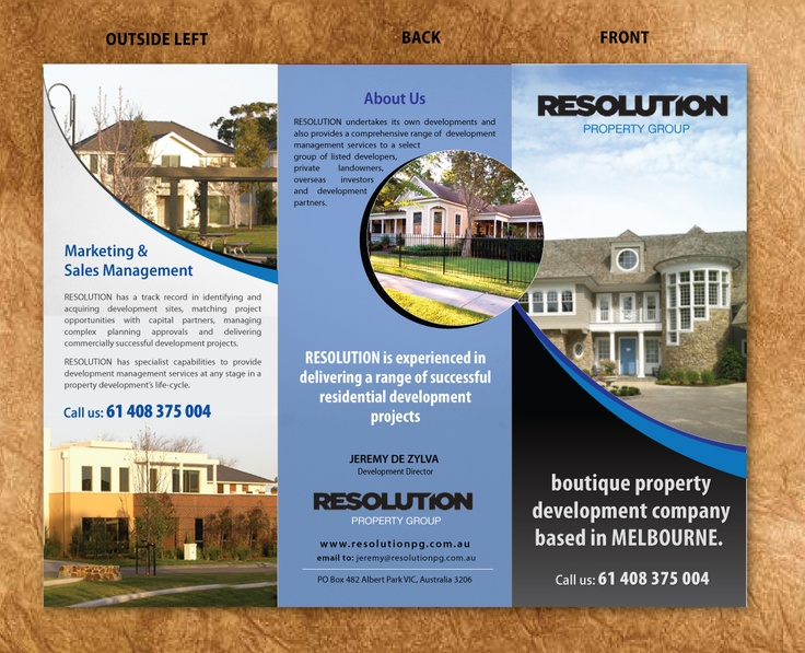 Brochure Design for Resolution Property Group from YourDesignPick.