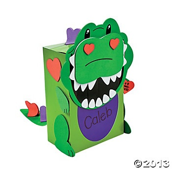 Dino Valentine Card Holder Craft Kit Kids And School