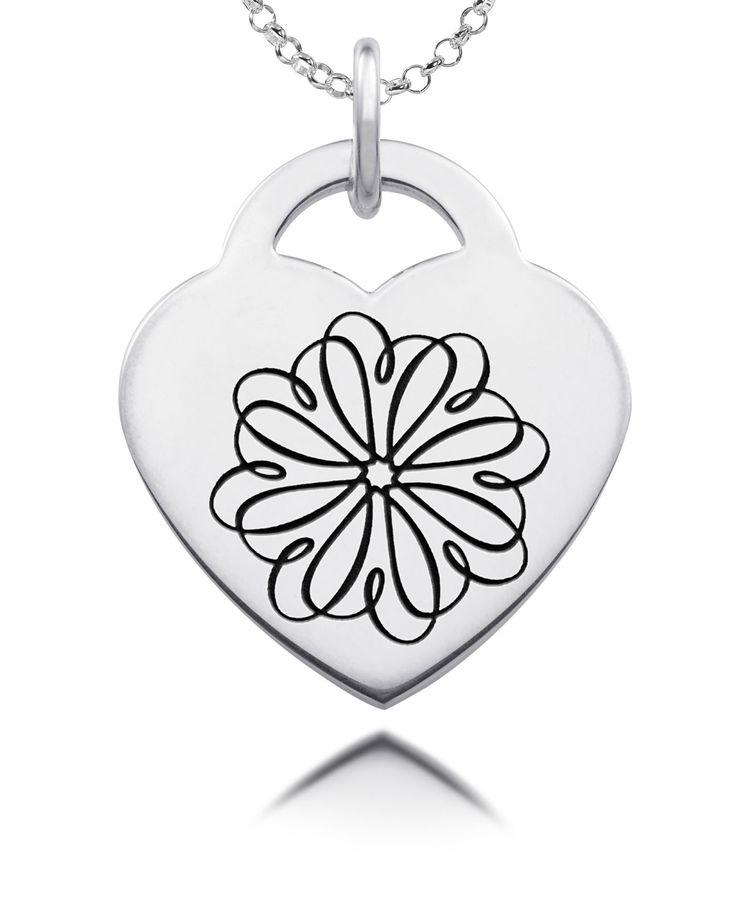 Sigma Kappa Symbol Heart Charm