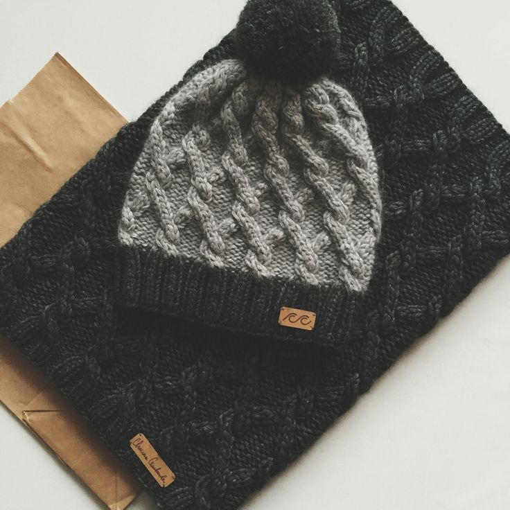 Knitted snood and hat