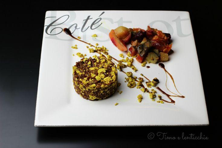 Riso rosso con tofu strapazzato