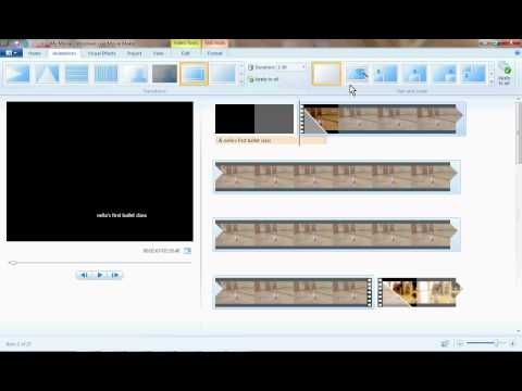 How to make video/photo slide shows using Windows Live Movie Maker - could be great for all those end-of-the-school year photos!