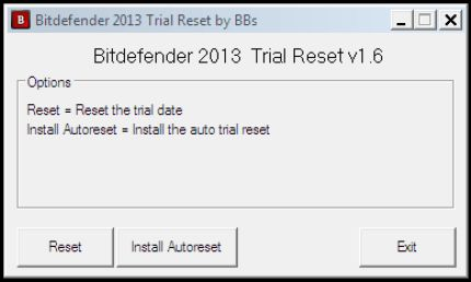 bitdefender reset tool
