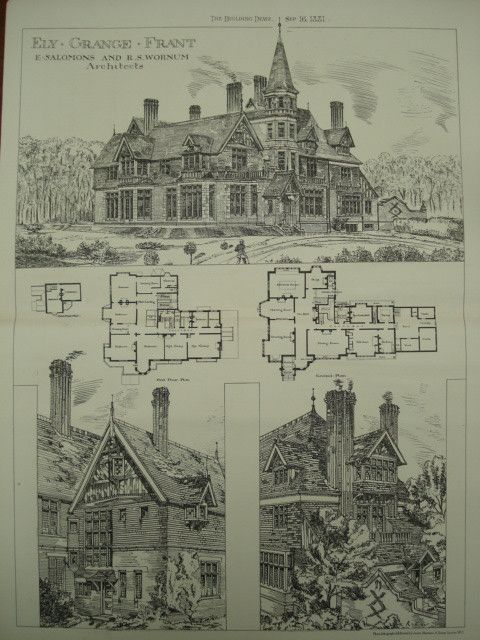 Ely Grange, Frant, East Sussex, England, UK, 1881, E. Salomons and R. S. Wornum #searshomeimprovementaccount #modernmansionhouse