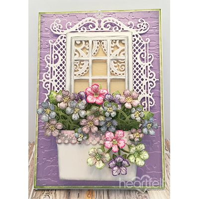 Window Box Blooms #card made w/ Winter's Eve collection from #HeartfeltCreations