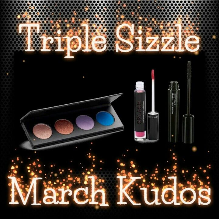 Younique March Kudos Quad Pressed Powder Palette Splash Liquid Lipstick Epic Mascara 30% Savings