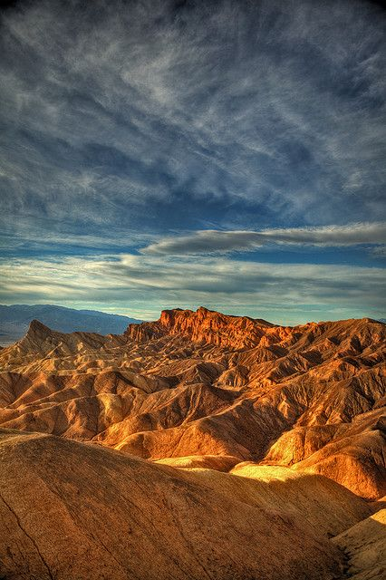 Zabriskie Point in Death Valley National Park  I will be spending my 25# anniversary here in December :)
