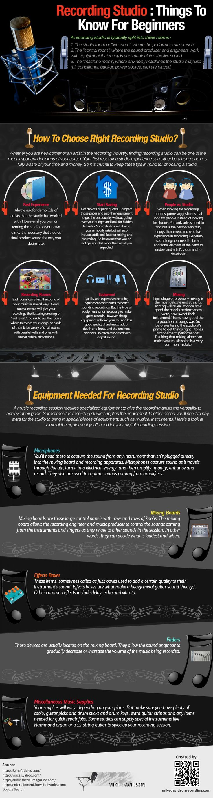 Recording Studio : Things To Know For Beginners