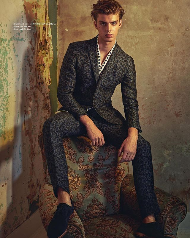 Thank you Archetype Magazine for this nice #editorial featuring Christian Lacroix menswear collection and its jacquard suits! On sale soon... Model Daniel Vanderdeen #christianlacroix #fashion #menswear #suits #suit #embroidery #embroidered #malefashion #sartorialist #suitday #suitup
