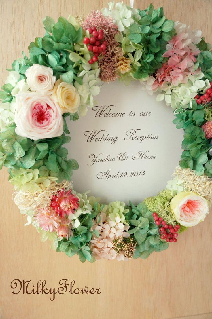 バラの花咲くリース* |ウェディング&フラワーリースのMilkyFlower*