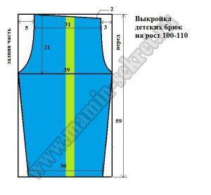 Спортивные брюки для мальчика на рост 100-110 см. Выкройка и МК (Шитье и крой)