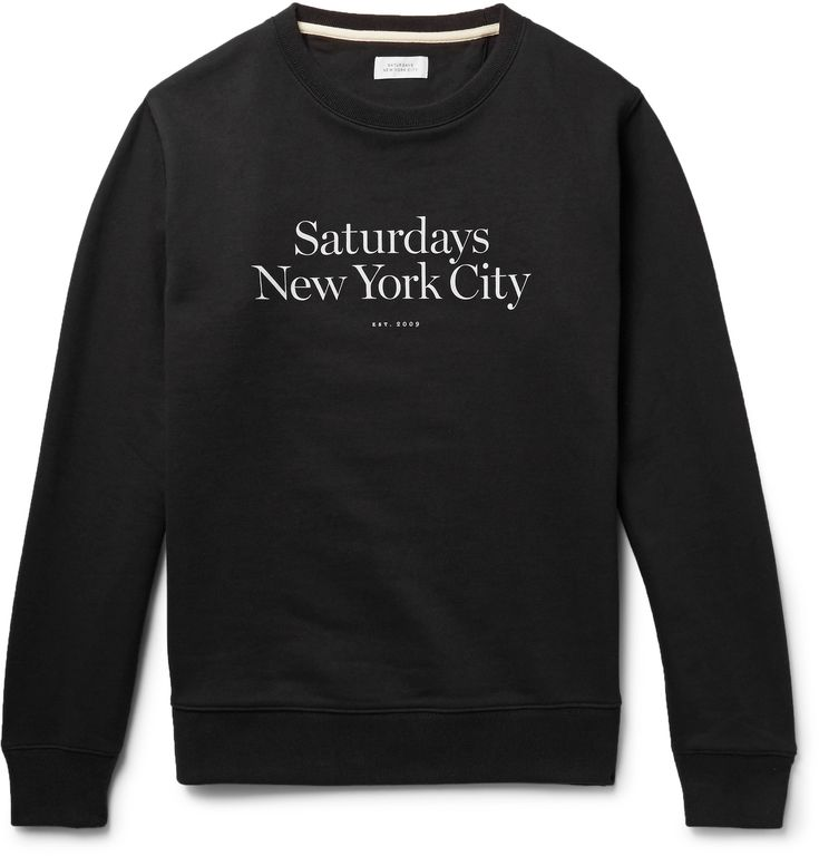 Cut from substantial loopback cotton-jersey, <a href='http://www.mrporter.com/mens/Designers/Saturdays_NYC'>Saturdays NYC</a>'s easy-to-wear 'Bowery Miller' sweatshirt will soften with each wear. It's printed with a serif version of the label's moniker and has a grosgrain-reinforced crew neck that ensures durability.