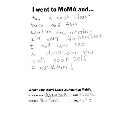 http://www.moma.org/iwent/  -- great idea! so fun to look through, this little girl's comments are so cute