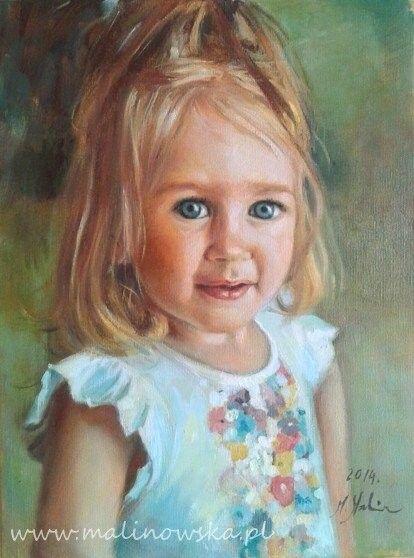 Zobacz zdjęcia z galerii portretów wykonanych na zamówienie w pracowni malarskiej Paleta Monika Malinowska. Zamów portret ukochanej osoby ze zdjęcia.
