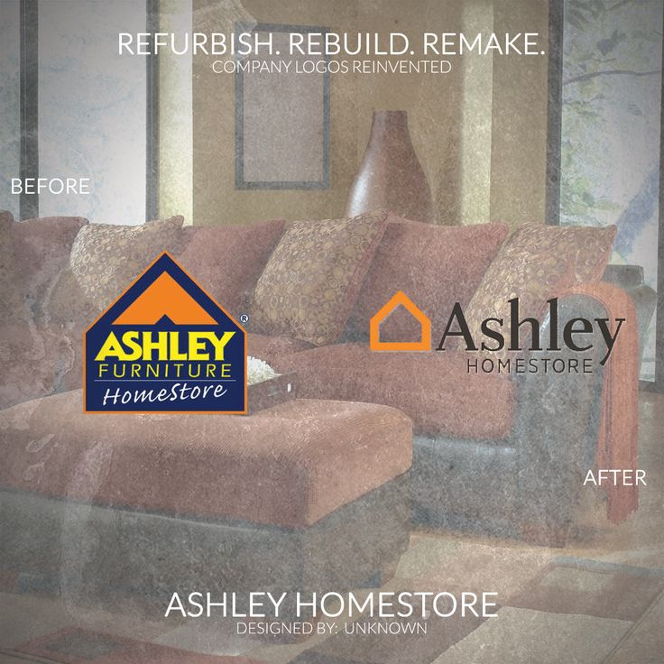 """Refurbish. Rebuild. Remake.  Today's Post features Company Logos Reinvented: ASHLEY HOMESTORE by UNKNOWN  #ashley #furniture #logo (Day 45 of 365)  (Est. 1945) """"Ashley HomeStore is committed to being your trusted partner and style leader for the home. This commitment has made Ashley HomeStore the No. 1 furniture retailer in the U.S. and one of the world's best-selling furniture store brands with 600 locations in 28 countries."""""""
