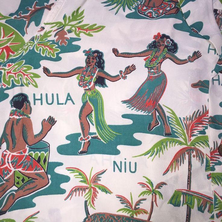 252 best vintage hawaiian shirts clothes images on for Lsu hawaiian print shirts