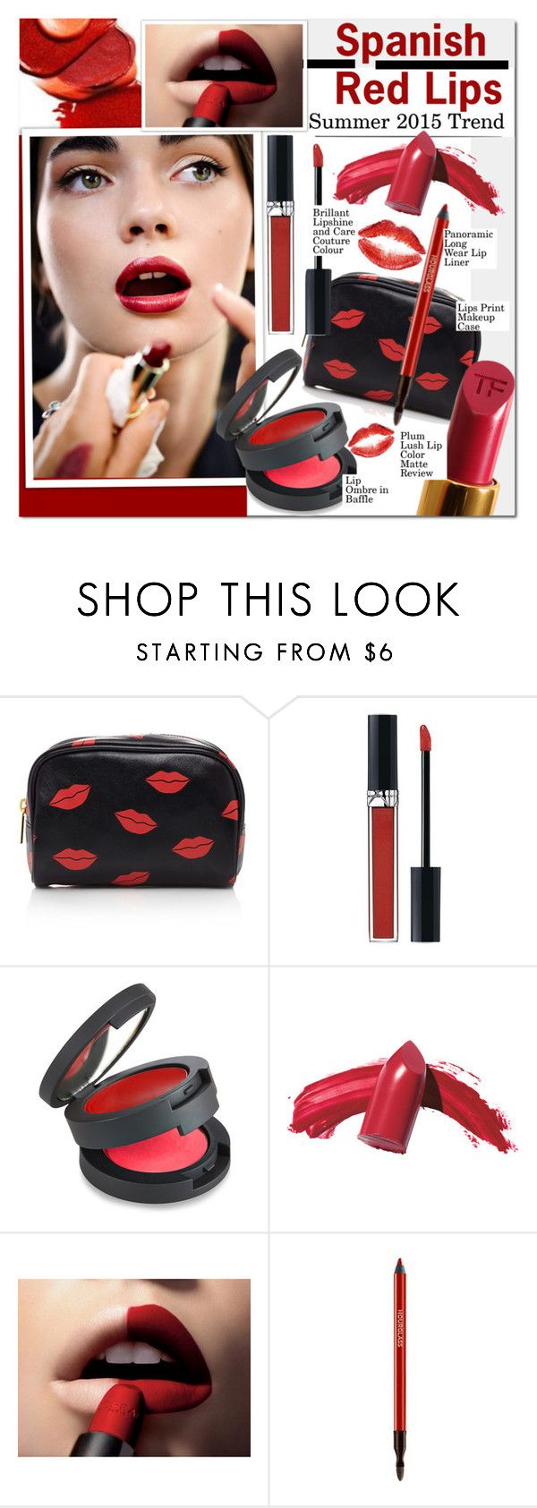 """""""Spanish Red Lips"""" by barbarela11 ❤ liked on Polyvore featuring beauty, Forever 21, Christian Dior, Dolce&Gabbana, Topshop, Elizabeth Arden and L'Oréal Paris"""