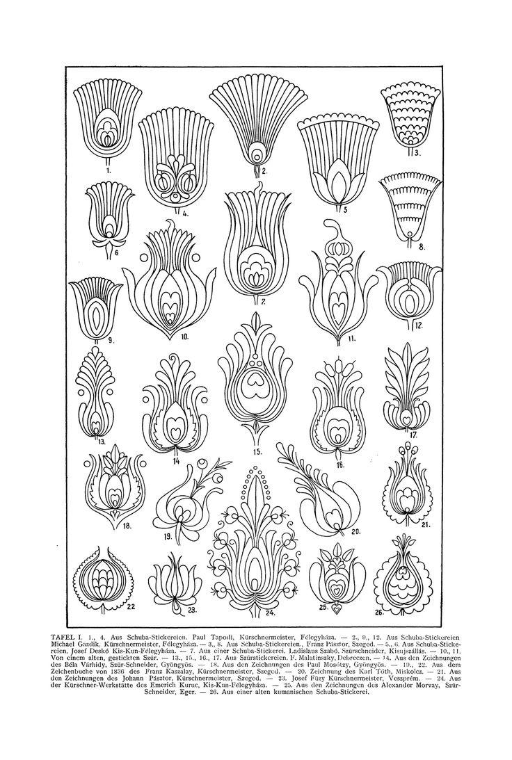 Magyar ornament, Hungarian ornament, floral ornament,