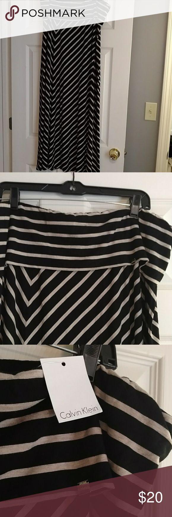 Calvin Klein Black & Tan Maxi skirt XL NWT Maxi Skirt Calvin Klein Skirts Maxi