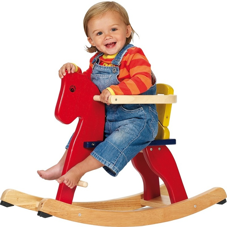 A rocking horse that's the perfect size for babies! Cleverly designed with an adjustable seat and removable safety rails, this delightful rocking toy will last them well into their toddling years.